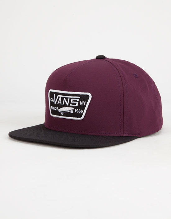 Vans Full Patch Mens Snapback Hat Burgundy One Size For Men 25805332001 7b97ef6f242