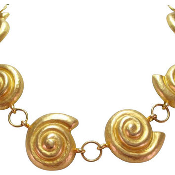 Yves Saint Laurent Seashell Necklace