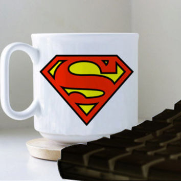 superman logo mug heppy mug coffee, mug tea, size 8,2 x 9,5 cm.