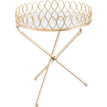 Gold Tray Table