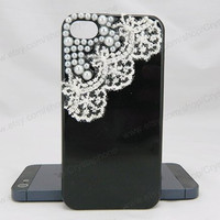 Lace Crystal case  Pearl  bling iphone 6 case iphone 6 case iphone 5S 5c iphone 4 case samsung galaxy s4 case note3 s3 case bling crystal