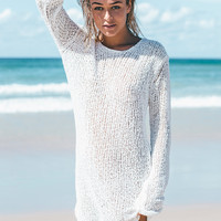 White Knit Dress | SABO SKIRT