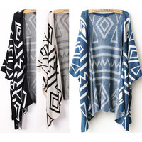 A 072931 European style temperament loose knit jacket