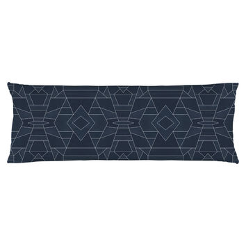 Geo Blue Body Pillow