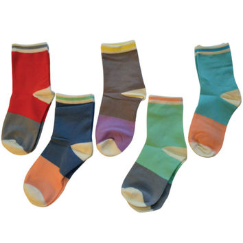 Colorblocked Ankle Socks