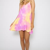 Garden Shadow Dress - Pink Swirl