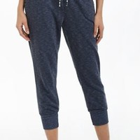 Cuffed & Cropped Sweats by Anthropologie Navy L Apparel