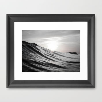 Motion of Water Framed Art Print by Nicklas Gustafsson