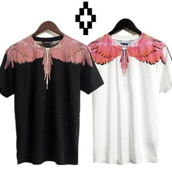 qiyif Marcelo Burlon T-Shirts County of Milan Wings Feathers