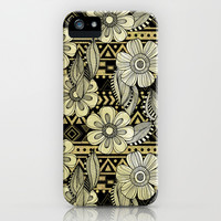 Floral Ink iPhone & iPod Case by Louise Machado