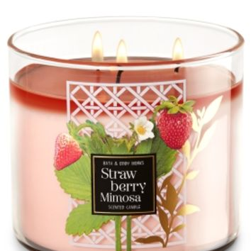 3-Wick Candle Strawberry Mimosa