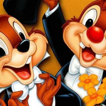 5D Diamond Painting Chip and Dale Tux Kit