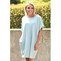 Falling For You Dress - Light Teal