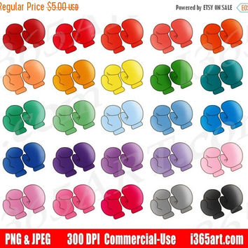 50% OFF SALE Boxing Gloves Clipart, Boxing Clip Art, Training, Athletic Exercise, Kick Boxing, Planner Sticker Graphics, PNG, Commercial
