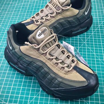 Nike Air Max 95 Hal Black Khaki Sport Running Shoes - Best Online Sale