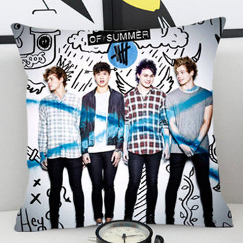 5 seconds of summer - Pillow Cover by PillowKesetiaan.
