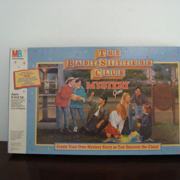 The Babysitters Club Mystery Game - Vintage Board Game - 1992 - - Milton Bradley