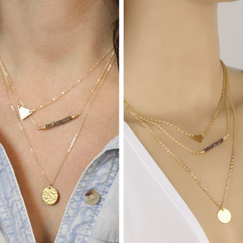 Jewelry New Arrival Gift Shiny Stylish Fashion Simple Design Accessory Crystal Necklace [7298068359]