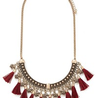 Tasseled Collar Necklace