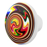Colorful Snail Ceramic Knob
