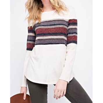 miru solid knit top - ivory