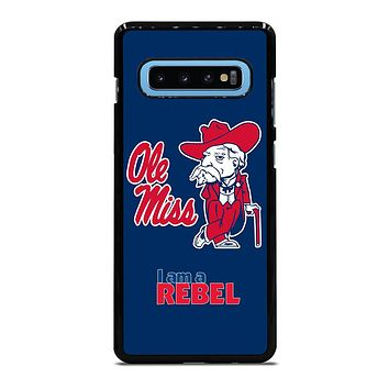 OLE MISS REBELS COLLEGE Samsung Galaxy S10 Plus Case Cover