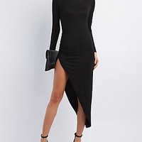 RUCHED ASYMMETRICAL DRESS