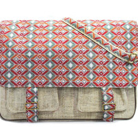 Mato Boho Allo Messanger cum Laptop Crossbody Bag with Bohemian Pattern