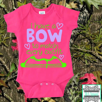 I Have A Bow To Match Every Outfit - Infant One-Piece - Bodysuit - Crossbow - Humor Onesuit - Hunting