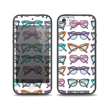 The Various Colorful Vector Glasses Skin Set for the iPhone 5-5s Skech Glow Case