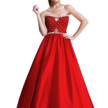 JOHNATHAN KAYNE 511 Swarovski Cyrstal and Beaded Satin Prom Evening Dress