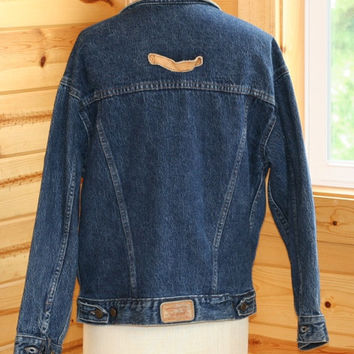 Vintage Levi Denim Jacket with leather collar