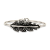 Lucky Feather Bangle Bracelet