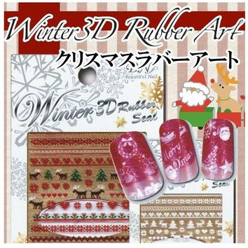 BN Christma Japan 3D Sticker Nail Art Manicure & DIY ShareNail Made in Japan CHR