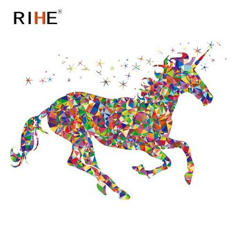 RIHE Colorful Unicorn Diy Painting By Numbers Oil Painting On Canvas Hand Painted Cuadros Decoracion Acrylic Animal Paint Art