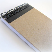 Spiral Notepad - Lined pages - Chipboard Cover  - Size 3x5