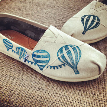 Hot Air Balloon Custom TOMS Shoes