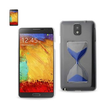 3D Sand Clock Clear Case In Navy For Samsung Galaxy Note 3 By Reiko