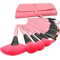Get Below 24 Pcs/Set  pink Makeup Brushes on : http://www.luulla.com/product/61178