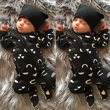 Newborn Baby Kids Boys Girls Clothes Warm Jumpsuit Romper Cotton Baby Boy Zipper Clothes Outfits Set 0-18M
