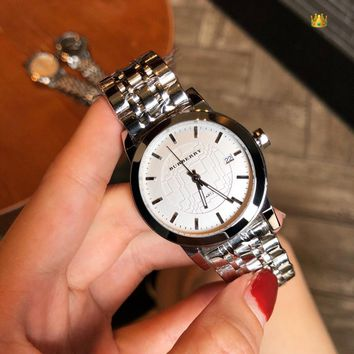 Burberry Ladies Men Women Quartz Watches Business Wrist Watch