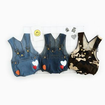 New Denim Baby Romper printed Infant Clothes Newborn Jumpsuit Babies Boy Girls Costume Cowboy Fashion Jeans Children overalls