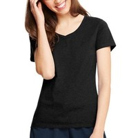 Hanes Women's Plus-Size X-temp Short Sleeve V-neck - Walmart.com