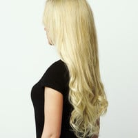 Luxy Hair Clip-In Hair Extensions Bleach Blonde | Color 60 | 120 grams