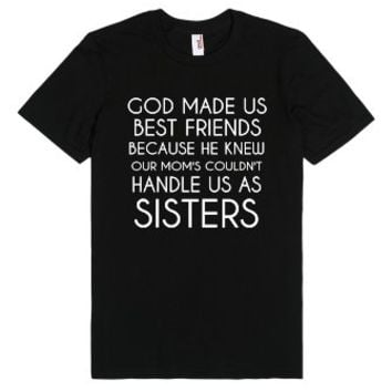 Best Friends black tee tshirt t shirt-Unisex Black T-Shirt