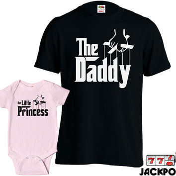 Matching Father Daughter Shirts Daddy TShirt Little Princess Baby Bodysuit Matching Family Shirts First Fathers Day Gift from Daughter MD431