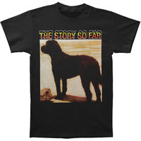Story So Far Men's  Dog T-shirt Black Rockabilia