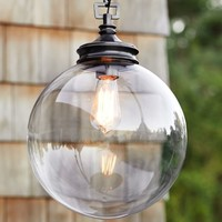 Calhoun Glass Indoor/Outdoor Pendant