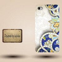 iPhone Case for iPhone 4 or 4S,iphone 5 cases coming soon,unique handmade hard Plastic case cover,White floral pattern,P series81