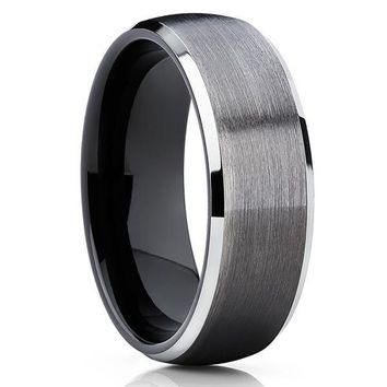 7mm Tungsten Ring - Gunmetal - Custom Order